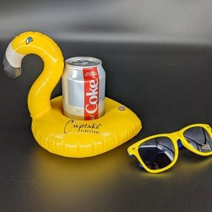 Inflatable Cupcake Wine Drink Float & Sun Glasses